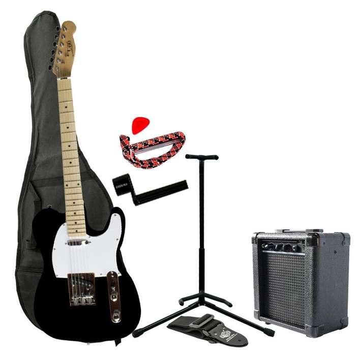 Combo I60 FB <strong>guitarra</strong> electrica Telecaster Negro MusicBoxColombia ¡Hasta -30% Dto en productos seleccionados!