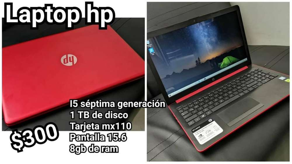 vendo laptop core i5 septima gen 1tb disco 8gb ram tarjeta
