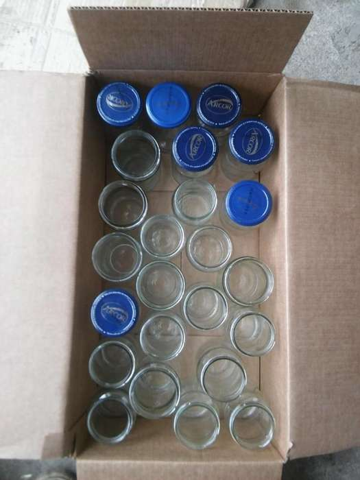 Frascos ex/envase mermeladas, vacios, 50 unidades.