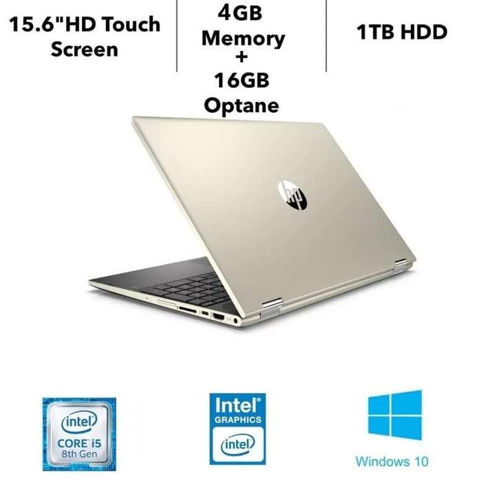 Notebook Hp Pavilion X360 Touch Intel I5 8va gen 16 gb Optane Lector de Huellas