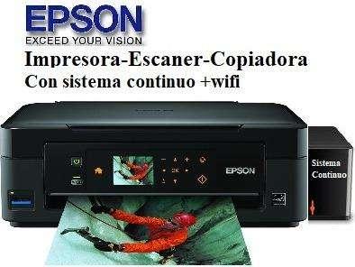 Impresora Multifuncion Epson Wifi Sistema Tinta Continua