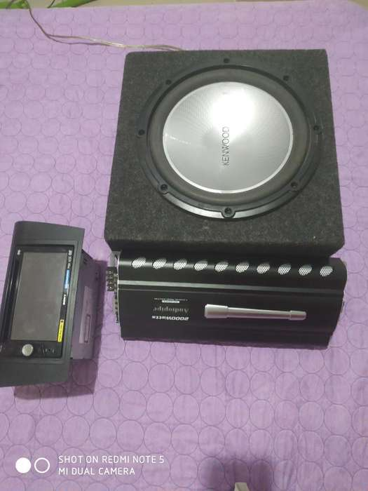 Planta Sub Woofer Y Radio Sony de Pantal