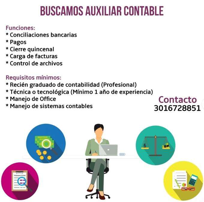 Buscamos <strong>auxiliar</strong> Contable y Administrativa