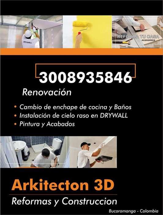 DRYWALL Y PVC INSTALAMOS MUROS 3D EN YESO Y PVC INSTALAMOS DRYWAL reformas y enchapes 3008935846 3182359488