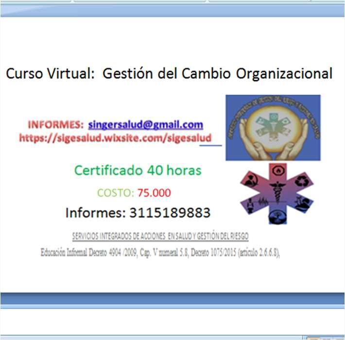75.000 curso virtual Gestión del Cambio Organizacional
