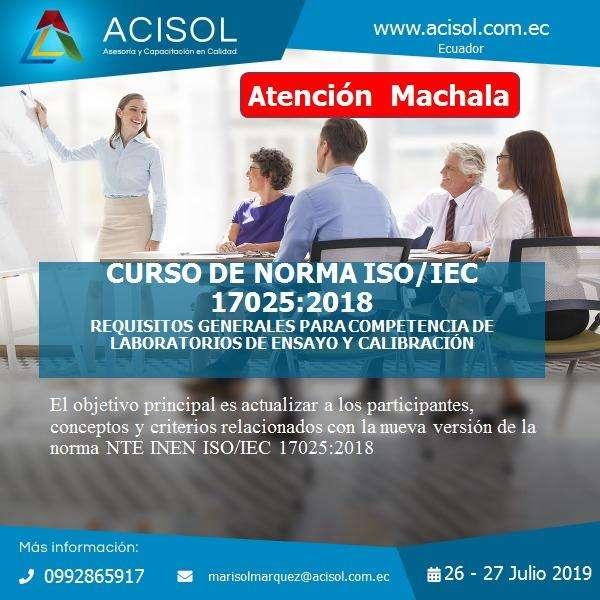 CURSO LABORATORIO NORMA ISO / EIC 17025 Machala