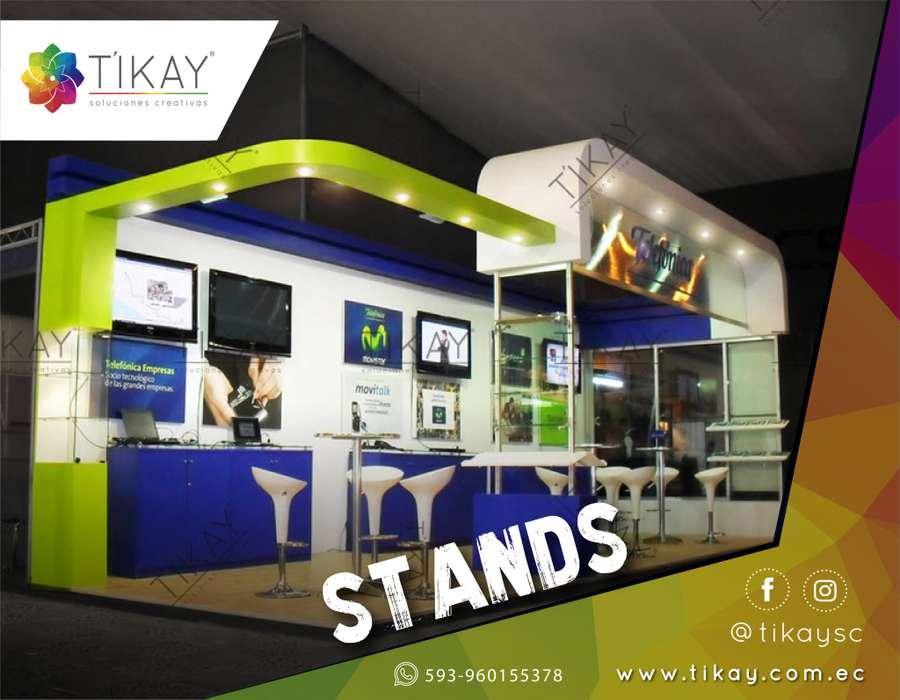 Diseño y construcción de stand personalizado para ferias, stand de feria, alquiler de stands.