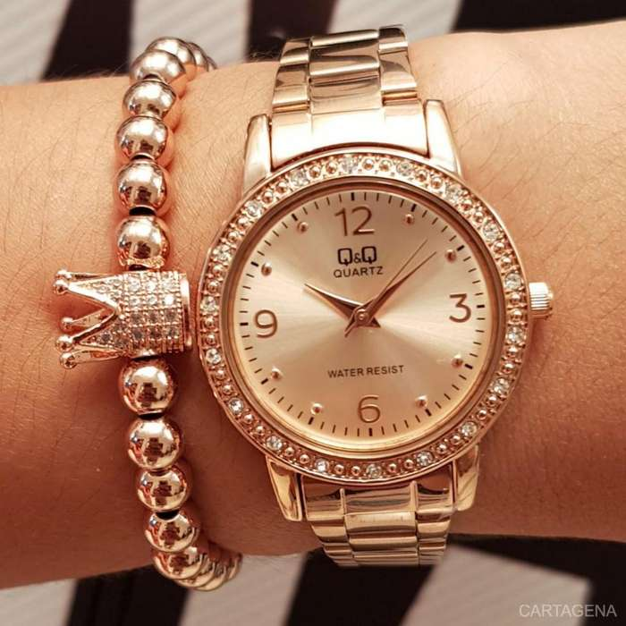 Reloj Q&Q color rosa para mujer en venta