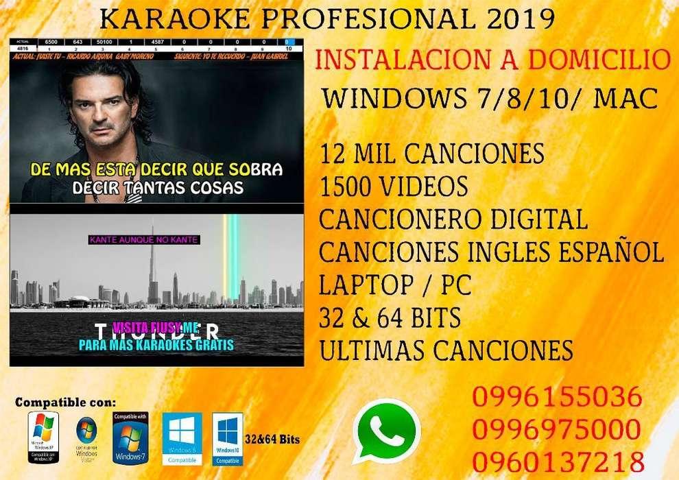 Karaoke Profesional 2019 Canciones Actua
