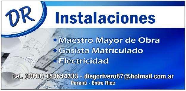 ELECTRICISTA, GASISTA , MAESTRO MAYOR DE OBRAS MATRICULADO