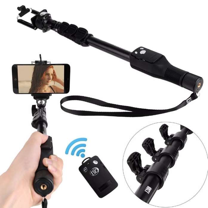 Palo Selfies Monopod Camaras Go Pro Y Celulares Bluetooth
