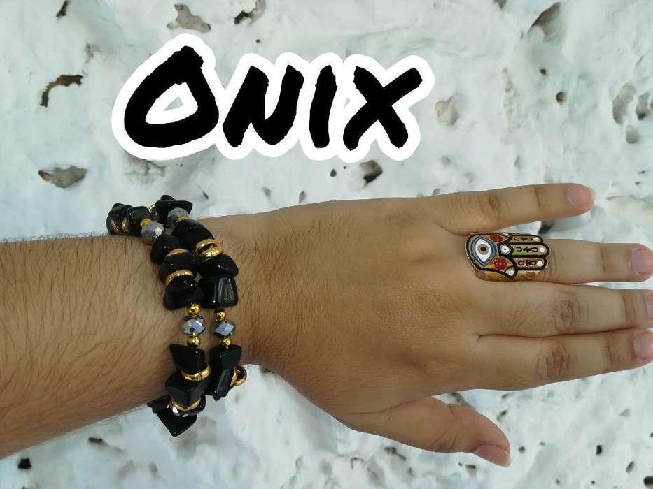Pulseras con Piedras Onix