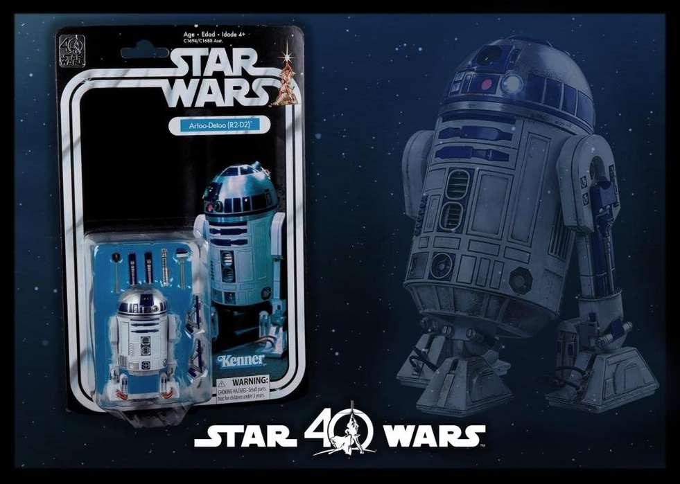 R2 D2 / STAR WARS: THE BLACK SERIES 6 / 40TH ANNIVERSARY / 40 años, aniversario / nuevo y sellado