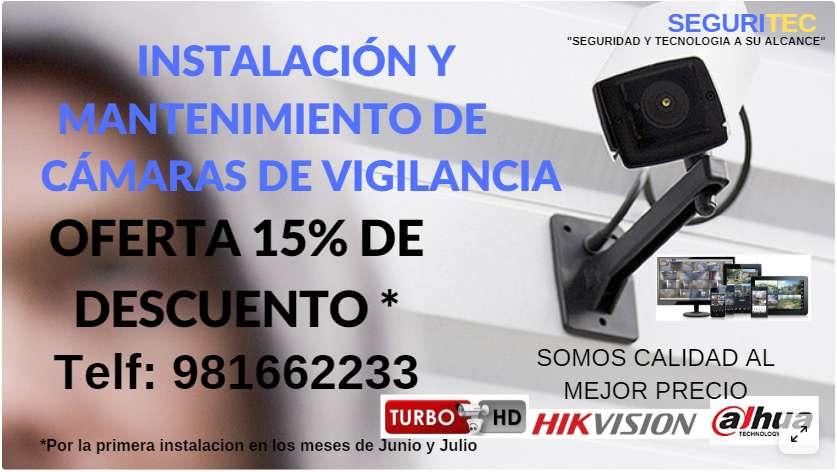 Oferta 15% De Descuento Instalación De Camaras De Seguridad / Ayacucho