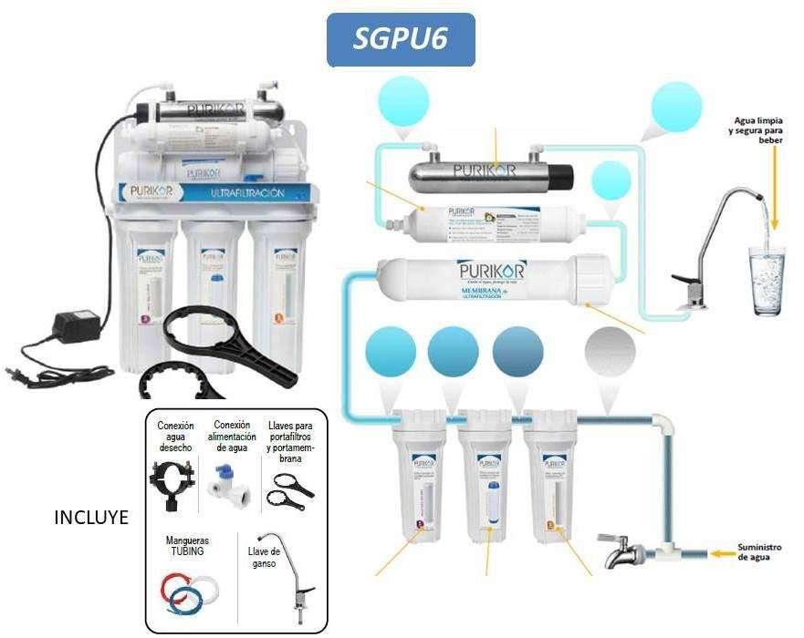 Filtro De Agua Ultrafiltracion 6 Etapa, Sistema Purificador De Agua