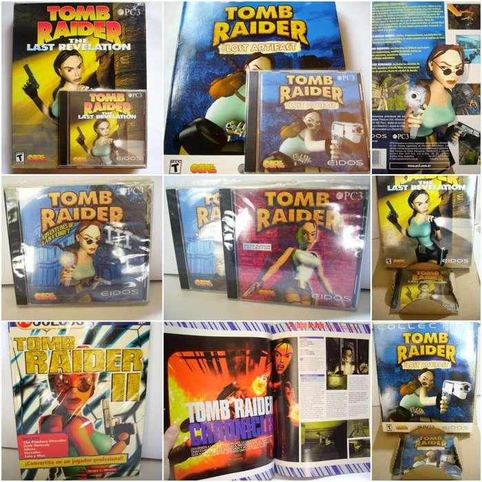 Tomb Raider Gran Colección Cds Juegos Guías Revis Libros Más