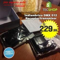 DMX 512 INALAMBRICO 2.4 G RECEPTOR Y TRANSMISOR