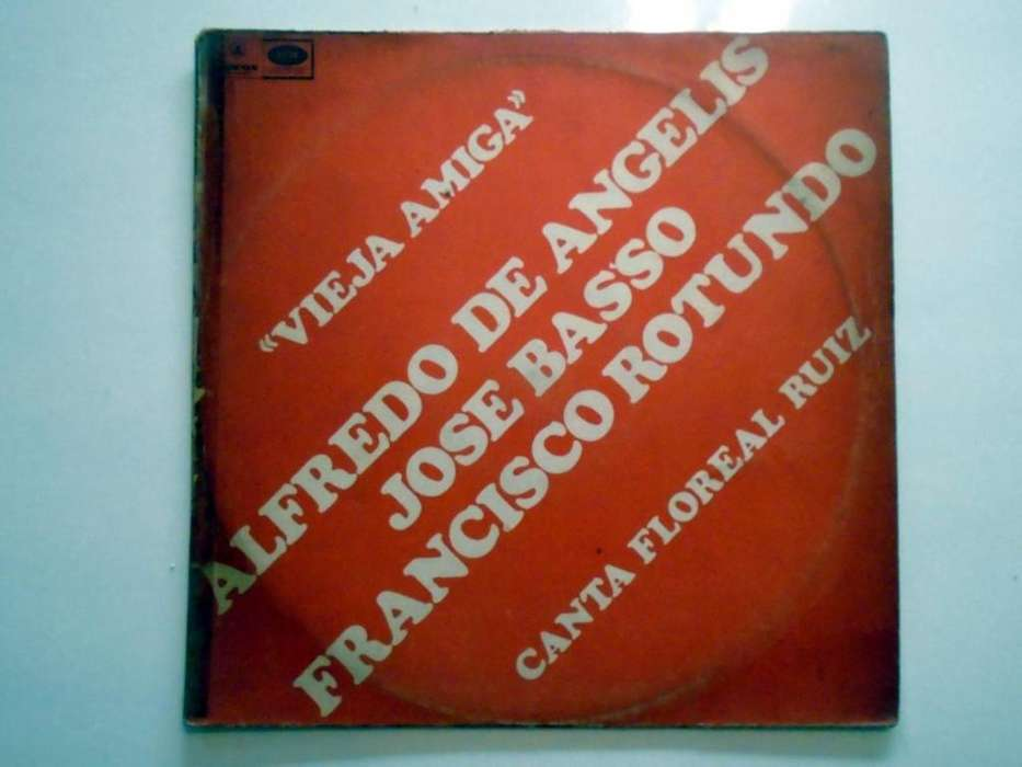 Disco LP Vinilo Tango EMI ODEON Alfredo De Angelis Jose Basso Francisco Rotundo 33 RPM 1967