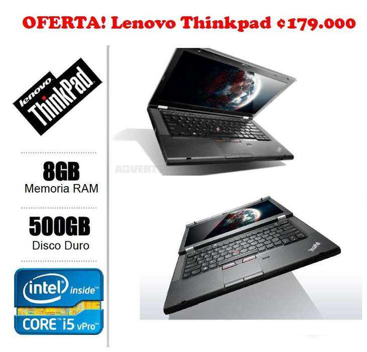 Lenovo Thinkpad Core I5 4 Núcleos 8gb RAM Disco 5000gb