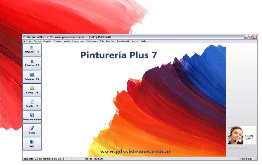 programa -- Pinturería Plus 7 -- software de gestión comercial apto para factura electrónica - GDS Sistemas