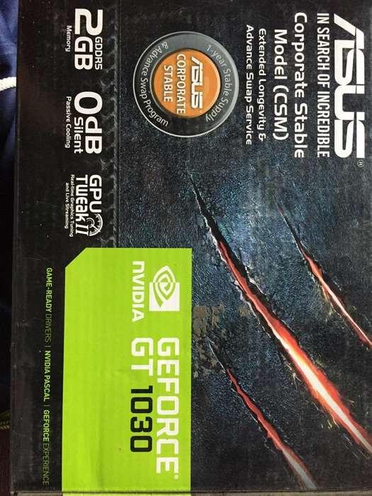Tarjeta Nvidia Marca Asus Modelo Gt1030