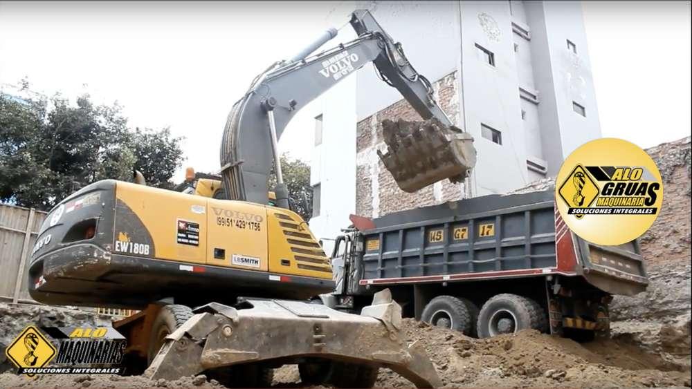 Alquiler de Excavadora Neumática, Retroexcavadora