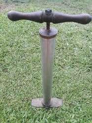 Inflador Antiguo Acero Y Bronce