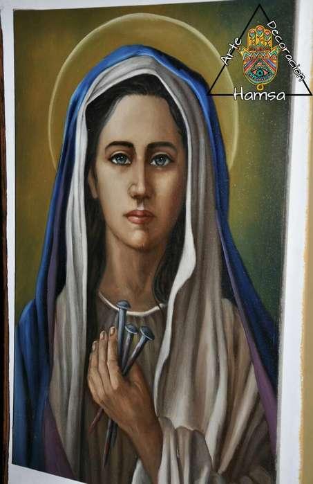 Arte Religioso en Oleo sobre Lienzo