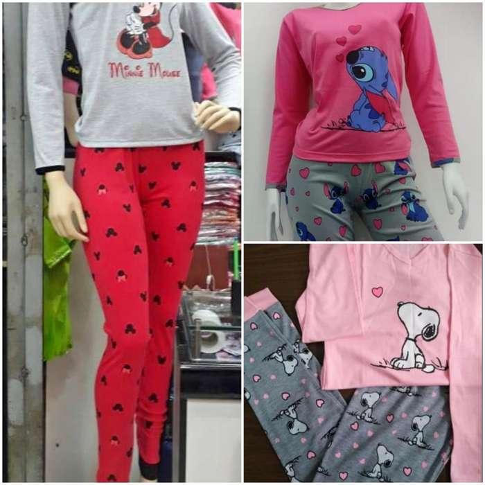 Pijamas en Algodon Pima Franela Y Polar