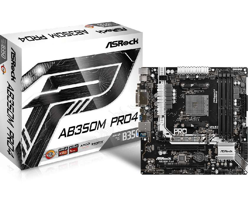 MOTHER ASROCK AB350M PRO 4, SOCKET AM4 , NUEVA ....