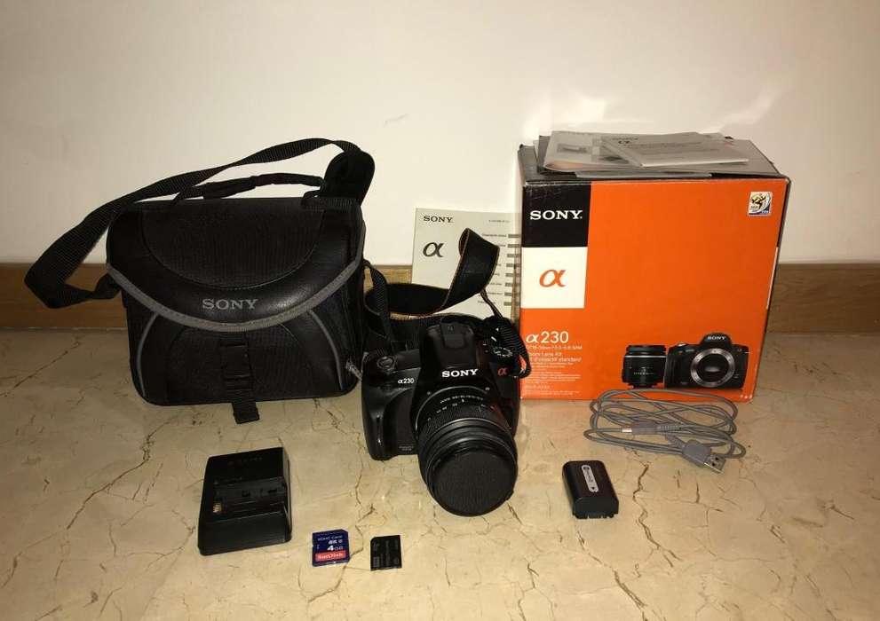 Ganga! Sony Alpha 230 <strong>digital</strong> SLR. Lente 1855 mm