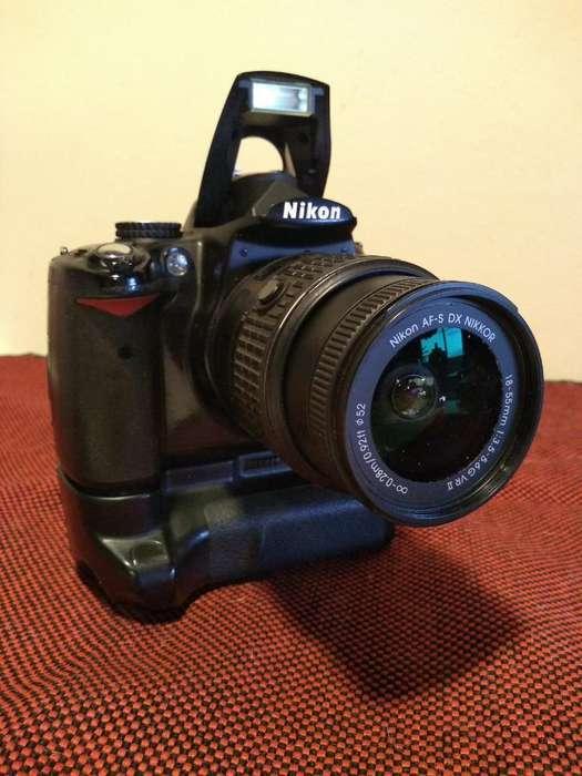 Nikon D5000 Lente18/55 Flash Sunpak Ng42