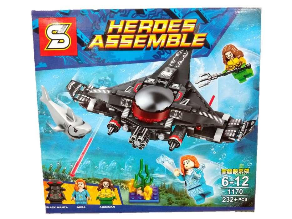 Simil Lego De Aquaman Heroes Assemble 200 Piezas