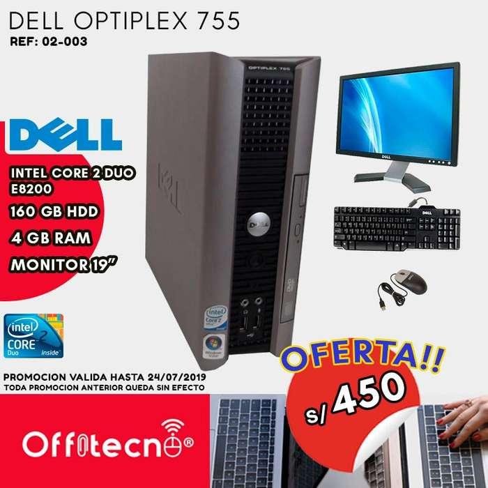 COMPUTADORA COMPLETA DELL OPTIPLEX 755,CORE 2 DUO E8200,4 GB RAM,160 GB