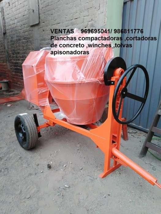 MEZCLADORA CONCRETO TROMPO con 9 y 11 p3 ,TOLVAS WINCHE electrico apisonadoras PLANCHAS COMPACTADORAS 969695041
