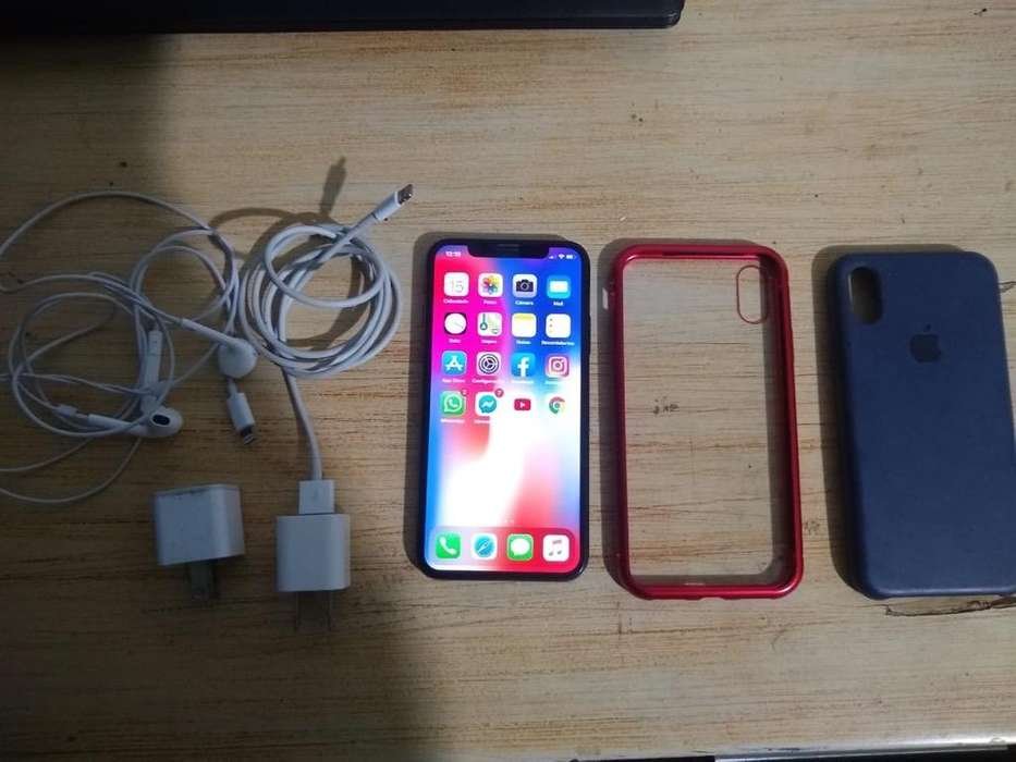 Vendo Iphone X de 256 Gb Perfecto Estado
