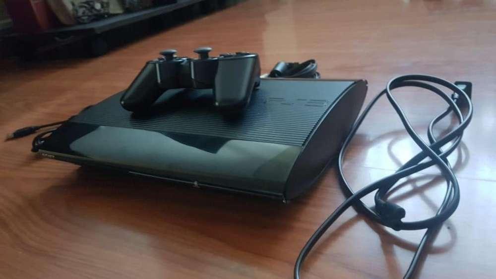 Playstation 3 ps3 Ultra Slim 750gb más de 20 juegos y mas