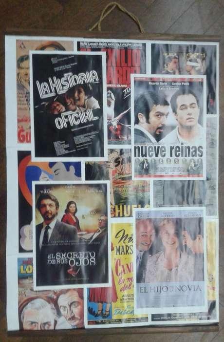 Poster Cine Argentino Nueve Reinas El secreto de sus ojos 65x50 cm