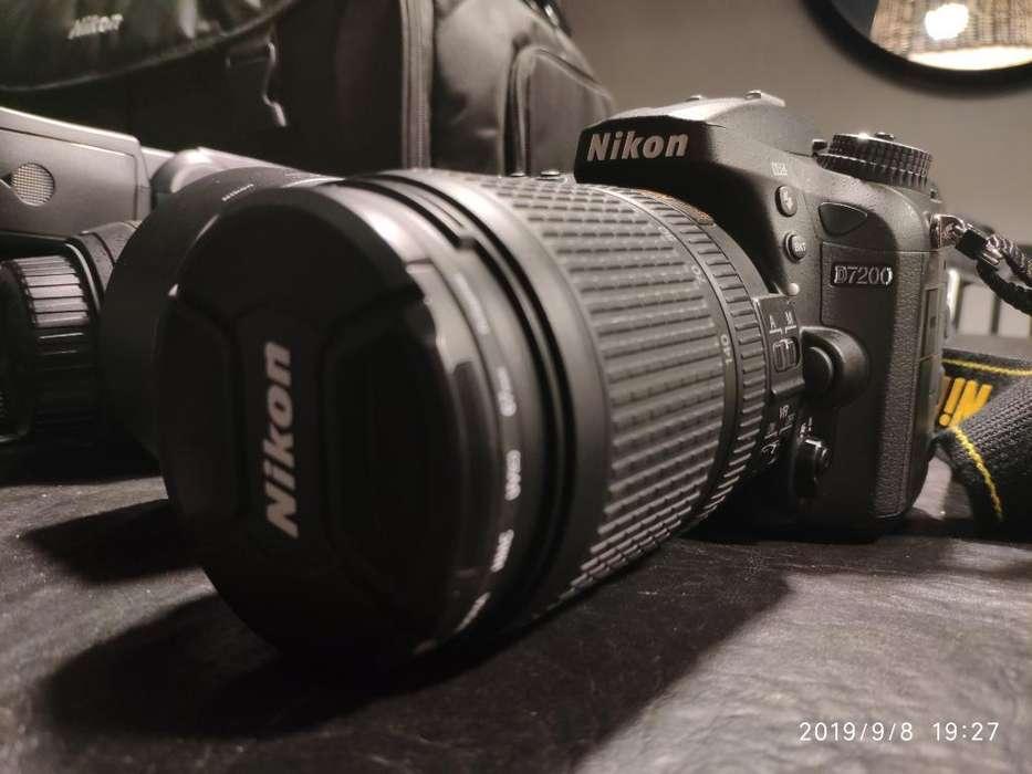Nikon 7200 18/140 Flash Funda Lente Memo