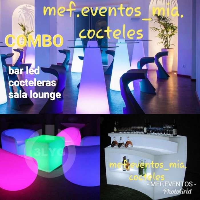 Alquiler de Bar Movil Led Sala Lounge Co
