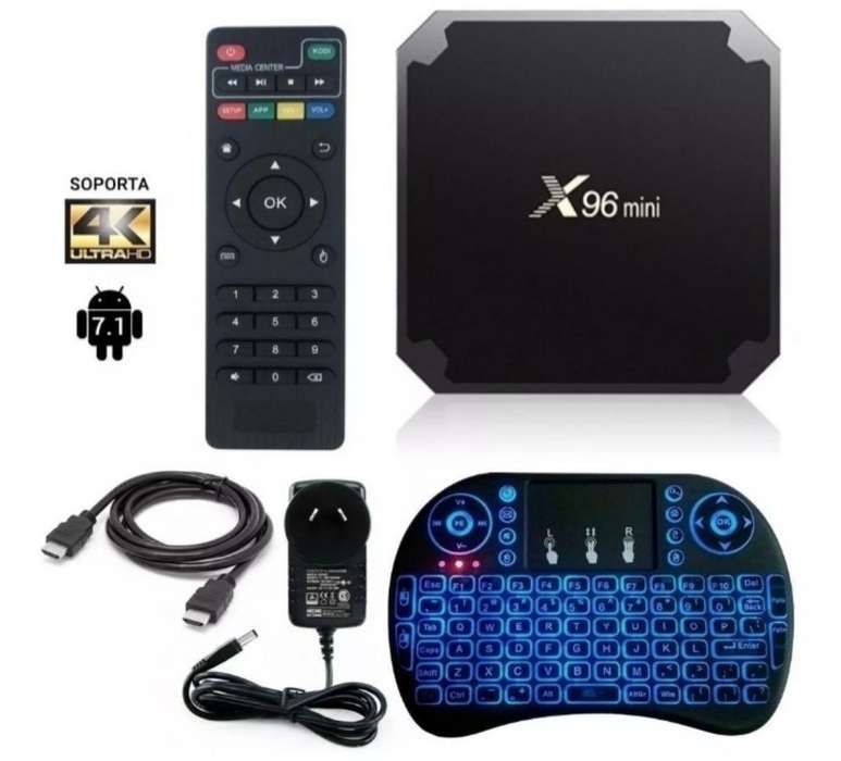 COMBO TV Box 4k Quad Core Smart Tv Android Mini TECLADO OBSEQUIO Garantia 1 AÑO