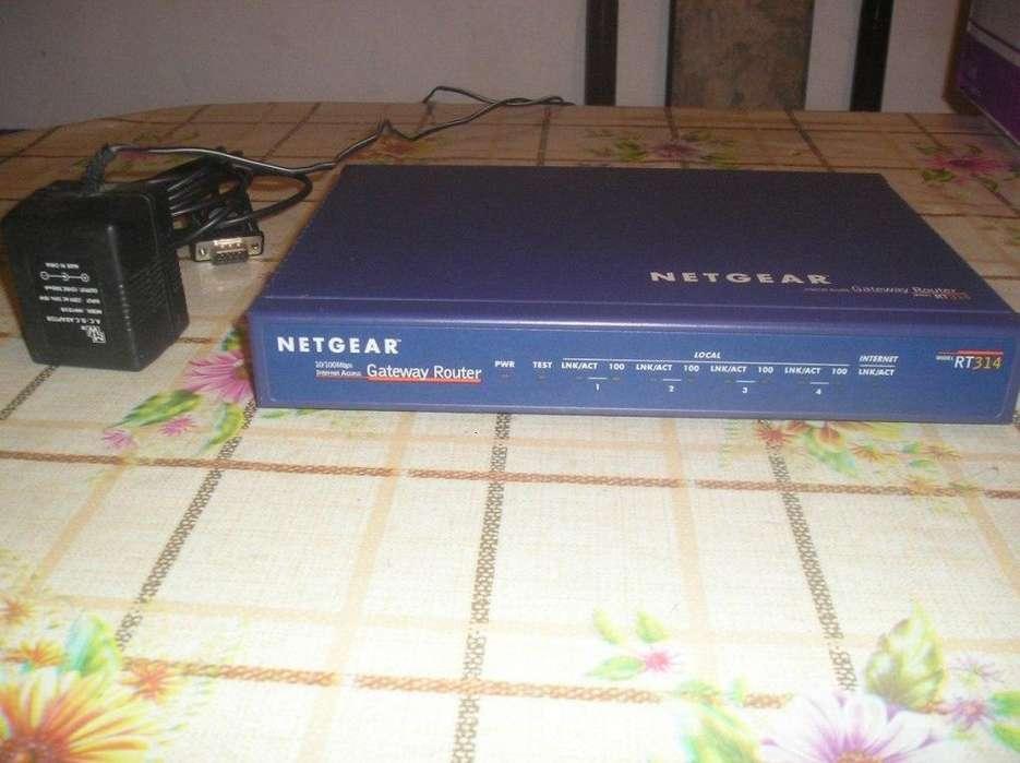 Venta De Router Netgear Gateway Rt314 Con Transfo Excelente