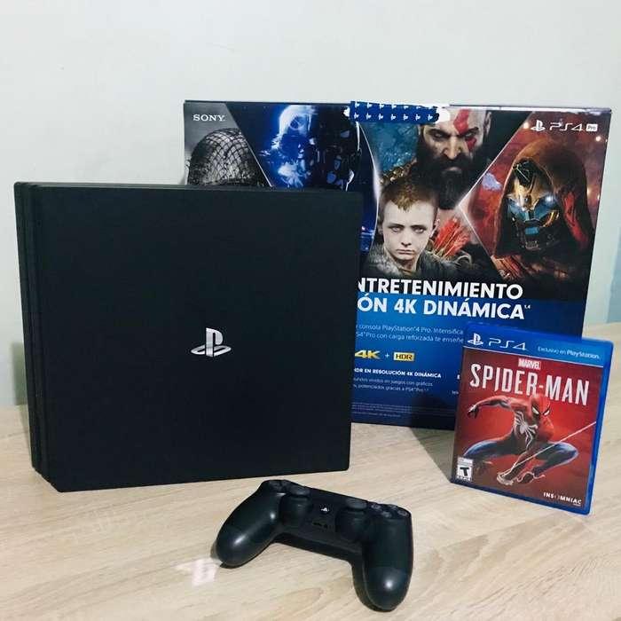 Consola Slim PS4 Pro 1 Tb 4 Juegos