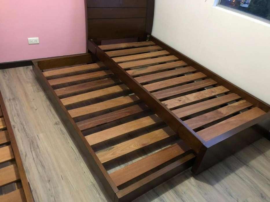 Camas Gemelas con cama Auxiliar