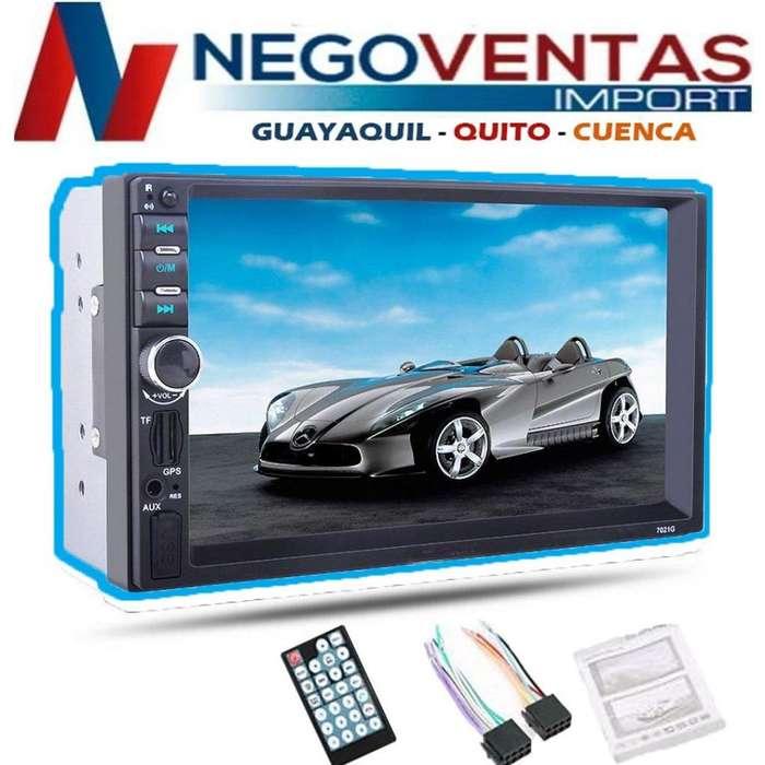 RADIO PARA CARRO DOBLE DIN MP5 USB SD AUX BT FM MIRROW LINK PANTALLA 7 PULGADAS