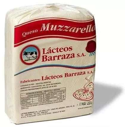 MUZZARELLA BARRAZA PLANCHA 20kgs ACTUAL 2019