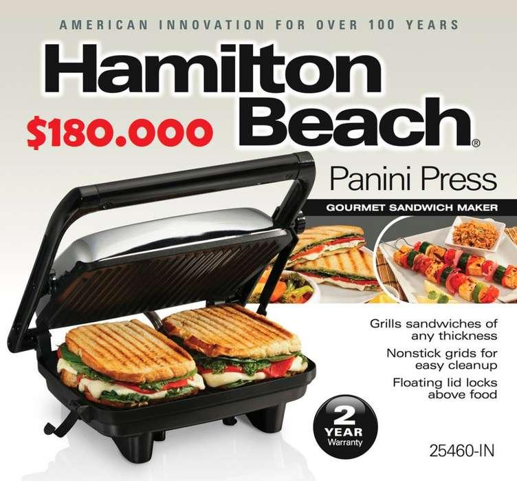 Sandwichera Panini Hamilton Beach