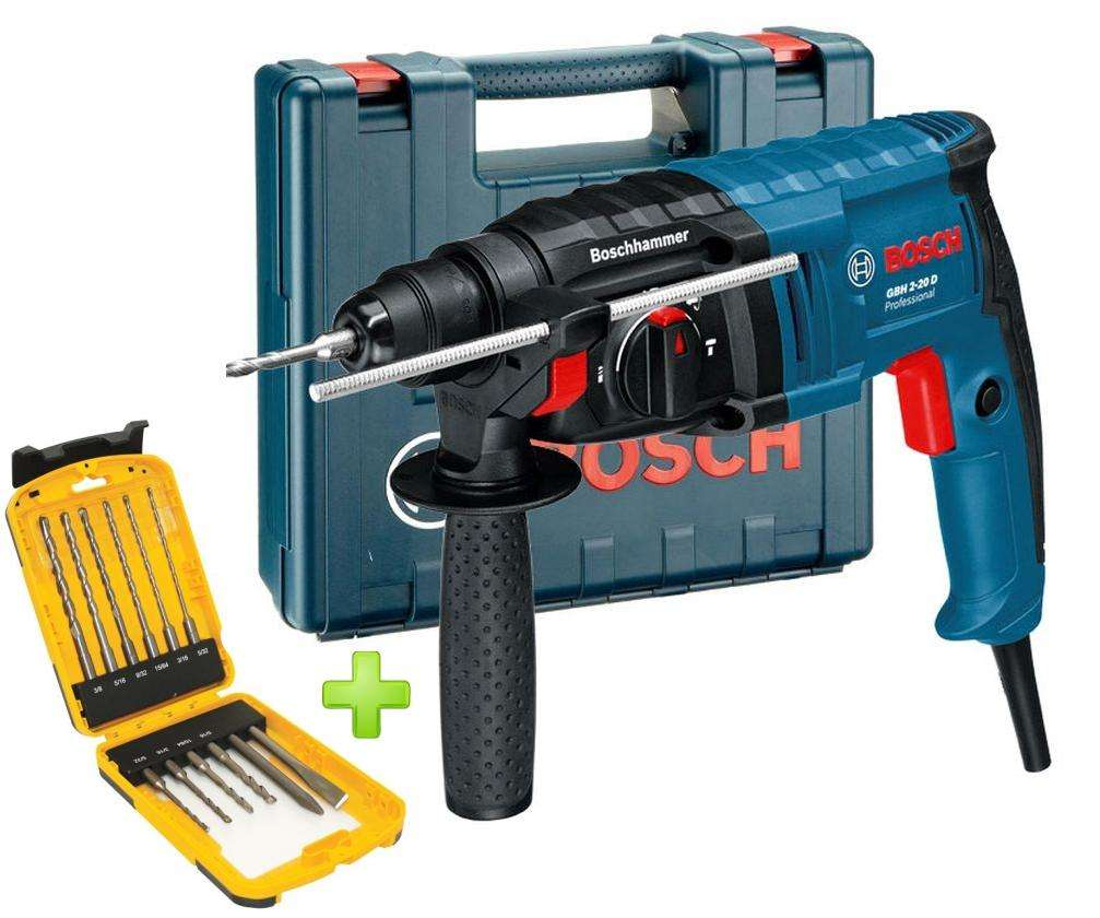 ROTOMARTILLO BOSCH 650 W SDS PLUS GBH 2-20D  JUEGO MECHAS STANLEY