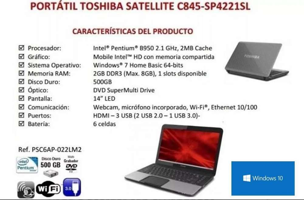 Laptop Toshiba C845 64bits