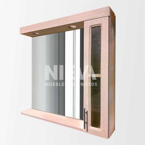 Espejo botiquín 1 puerta 60 cm – 80cm – 1m